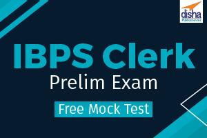 Free Mock Test IBPS Clerk Prelim Exam
