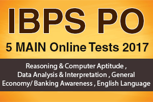 New Pattern IBPS PO 5 Main Online Tests 2017