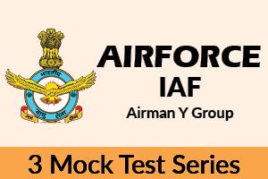 IAF Airman Y - 3 Mock Tests Series