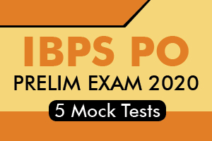 IBPS PO Prelims 2020 - 5 Online Mock Tests