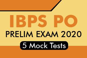 IBPS PO Prelims 2020 - 5 Online Mock Tests